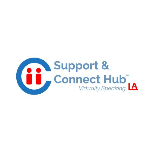 Support & Connect Hub - Virtually Speaking Logo 2020