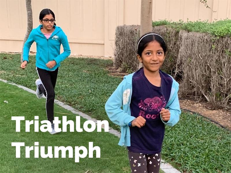Simrah, Jennah and Fatima's Triathlon Triumph